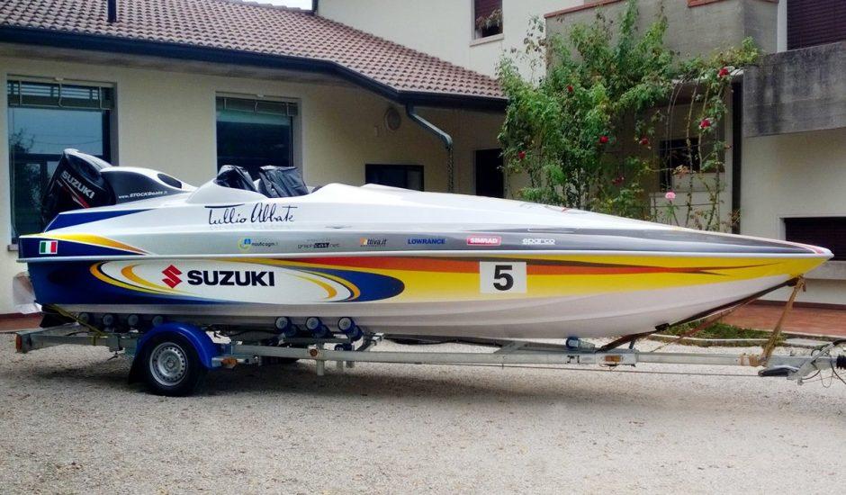 Boat wrapping - Tullio Abbate - barca da corsa