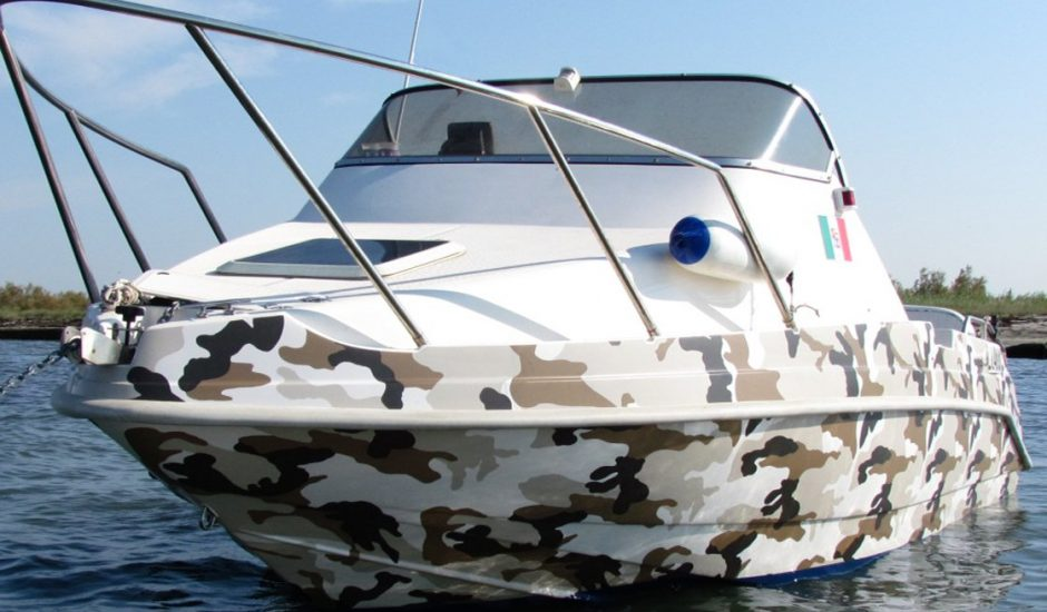 Boat wrapping - Barca camouflage