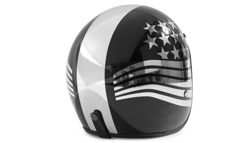 Wrapping casco nero e cromato
