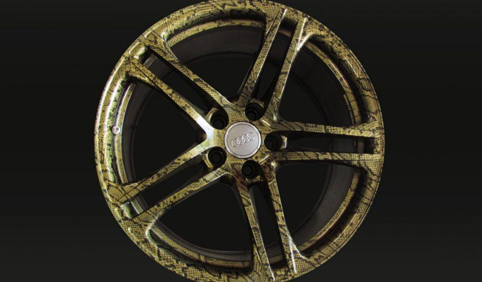 Cerchi in cubicatura oro pitonato